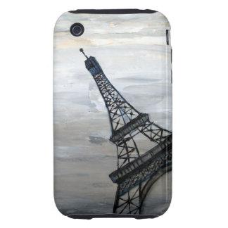 Torre Eiffel abstracta de la dama de hierro por el iPhone 3 Tough Cobertura