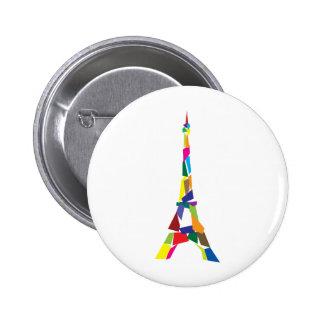 Torre Eiffel abstracta, Francia, París Pin Redondo De 2 Pulgadas