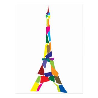 Torre Eiffel abstracta, Francia, París Tarjeta Postal