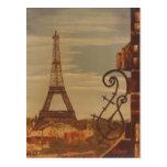 Torre Eiffel, acrílico de Parism Francia en arte d Postales