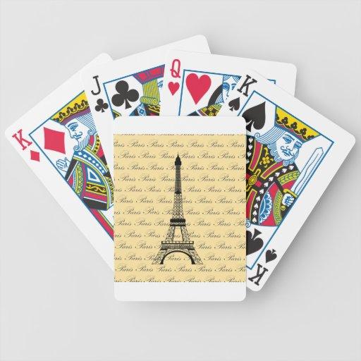 Torre Eiffel amarilla y negra de París Baraja