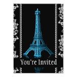 Torre Eiffel artística con las fronteras florales Anuncio