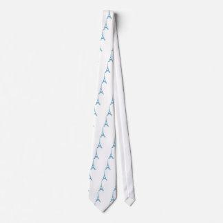 Torre Eiffel azul con moda lamentable de los Corbata Personalizada