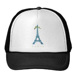 Torre Eiffel azul en falso brillo Gorras