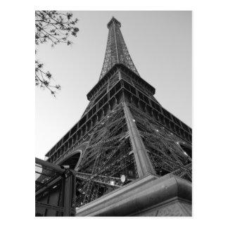 Torre Eiffel b w Tarjeta Postal