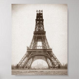 Torre Eiffel bajo construcción - 1888 Póster
