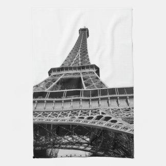 Torre Eiffel blanco y negro Toallas