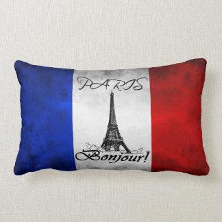 Torre Eiffel Bonjour de París Francia Cojín Lumbar
