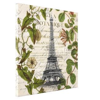 torre Eiffel botánica femenina de París del Impresión En Lienzo Estirada
