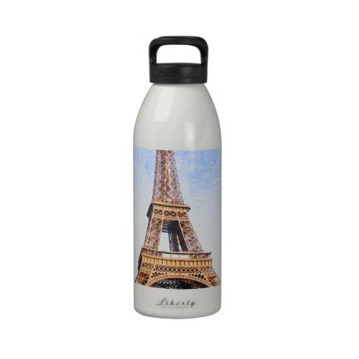 Torre Eiffel Botella De Agua Reutilizable