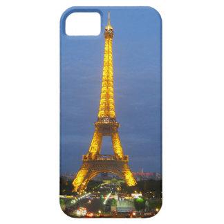 Torre Eiffel brillante de París en la noche iPhone 5 Carcasas