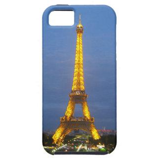 Torre Eiffel brillante de París en la noche iPhone 5 Fundas