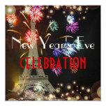 Torre Eiffel, burbujas del champán de los fuegos Comunicados Personalizados