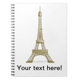 Torre Eiffel, clipart de Francia Cuadernos