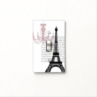 Torre Eiffel con la lámpara Tapas Para Interruptores