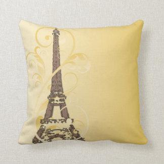 Torre Eiffel con las volutas Almohadas