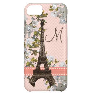 Torre Eiffel con monograma Funda Para iPhone 5C
