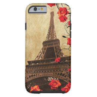 Torre Eiffel con Rosescase rojo