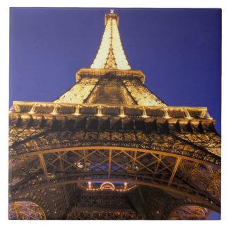 Torre Eiffel de FRANCIA, París, igualando la visió Azulejo Cuadrado Grande