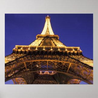 Torre Eiffel de FRANCIA, París, igualando la visió Póster