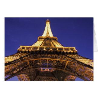 Torre Eiffel de FRANCIA París igualando la visió Tarjeton