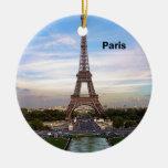 Torre Eiffel de Francia París (nueva) (St.K) Ornamento De Navidad