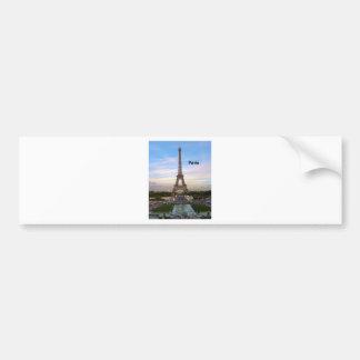 Torre Eiffel de Francia París (por St.K) Pegatina De Parachoque