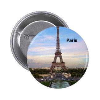 Torre Eiffel de Francia París (por St.K) Pin Redondo De 2 Pulgadas