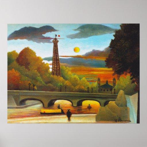 Torre Eiffel de Henri Rousseau en el poster de la