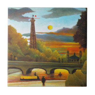 Torre Eiffel de Henri Rousseau en la teja de la pu