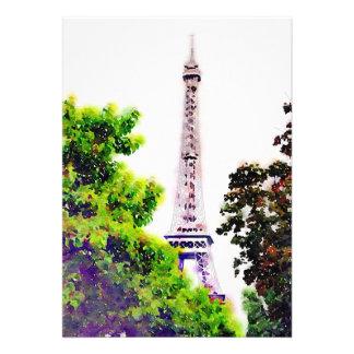 Torre Eiffel de la acuarela