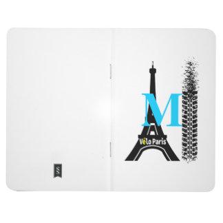 Torre Eiffel de la bici de Velo París Cuadernos Grapados