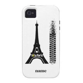 Torre Eiffel de la bici de Velo París iPhone 4 Carcasas