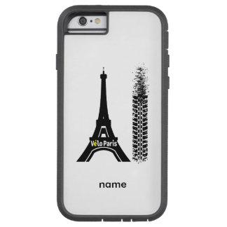 Torre Eiffel de la bici de Velo París Funda De iPhone 6 Tough Xtreme