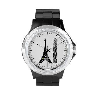 Torre Eiffel de la bici de Velo París Relojes