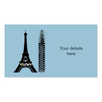 Torre Eiffel de la bici de Velo París Tarjetas De Visita