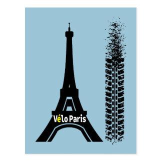 Torre Eiffel de la bici de Velo París Postal