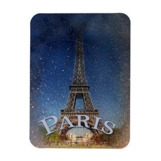Torre Eiffel de la noche estrellada de París Imanes
