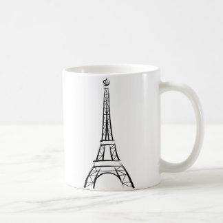 Torre Eiffel de la pincelada Taza