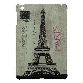 Torre Eiffel de la postal del vintage de París