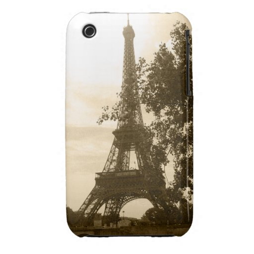 Torre Eiffel de la sepia Case-Mate iPhone 3 Cárcasas