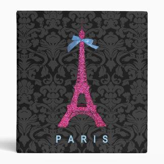 """Torre Eiffel de las rosas fuertes en falso brillo Carpeta 1"""""""