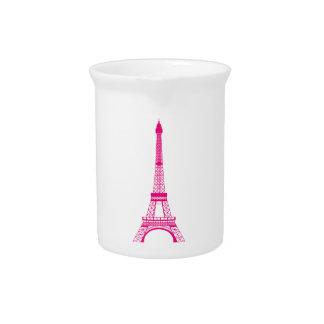 Torre Eiffel de las rosas fuertes Jarron