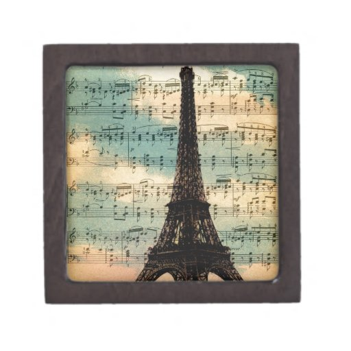 Torre Eiffel de París Cajas De Recuerdo De Calidad