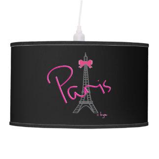 Torre Eiffel de París con el arco rosado Lámpara De Techo
