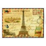Torre Eiffel de París de la postal del viaje del Felicitación