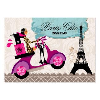 Torre Eiffel de París de la vespa del polaco del s Tarjetas De Visita Grandes