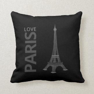 Torre Eiffel de París el   del amor Cojín Decorativo