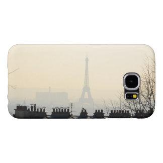 Torre Eiffel de París Francia en un día de niebla Funda Samsung Galaxy S6