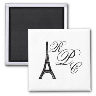 Torre Eiffel de París Imán Cuadrado